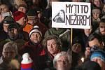 Olomoucká demonstrace proti zvolení komunisty Ondráčka šéfem komise pro kontrolu GBIS