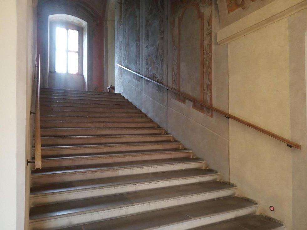 Filmová místa v Olomouci. Schodiště -  jezuitský konvikt