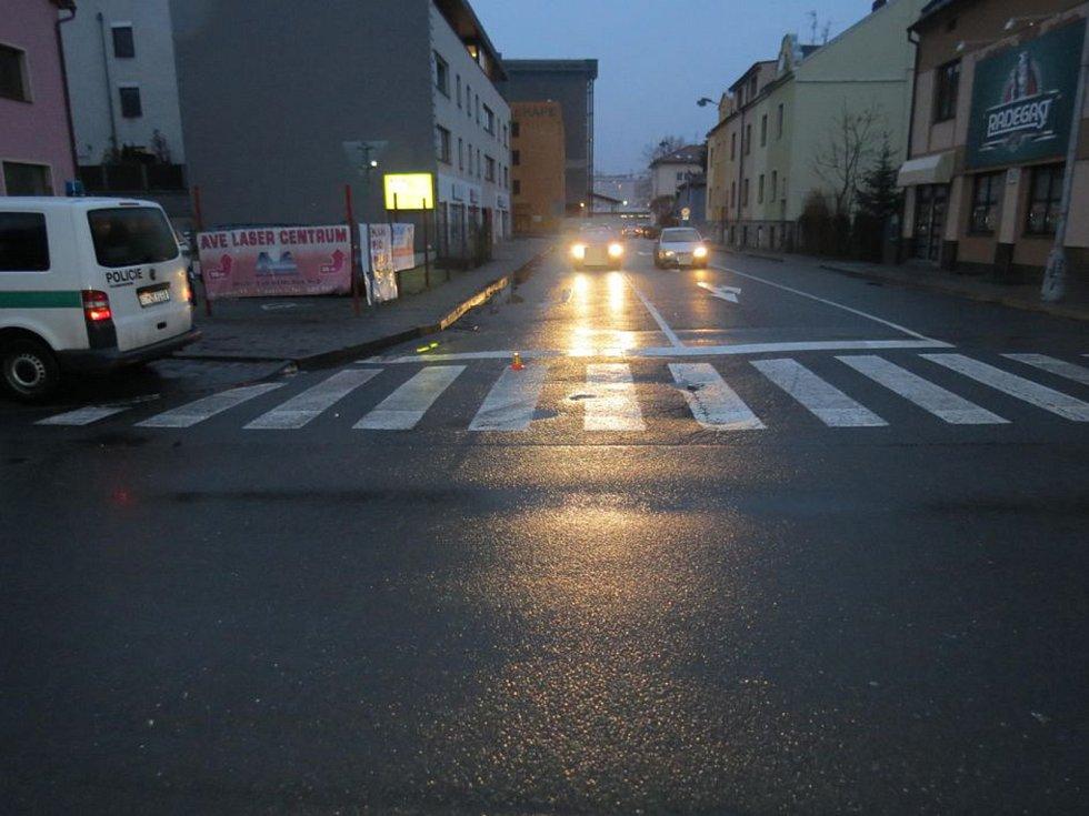 Místo nehody v Ibsenově ulici v Olomouci