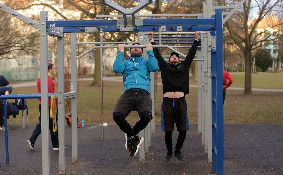 Workoutové hřiště v Čechových sadech v Olomouci
