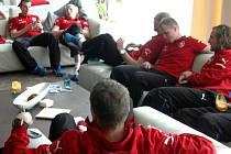 Fotbalová reprezentace v olomouckém NH hotelu