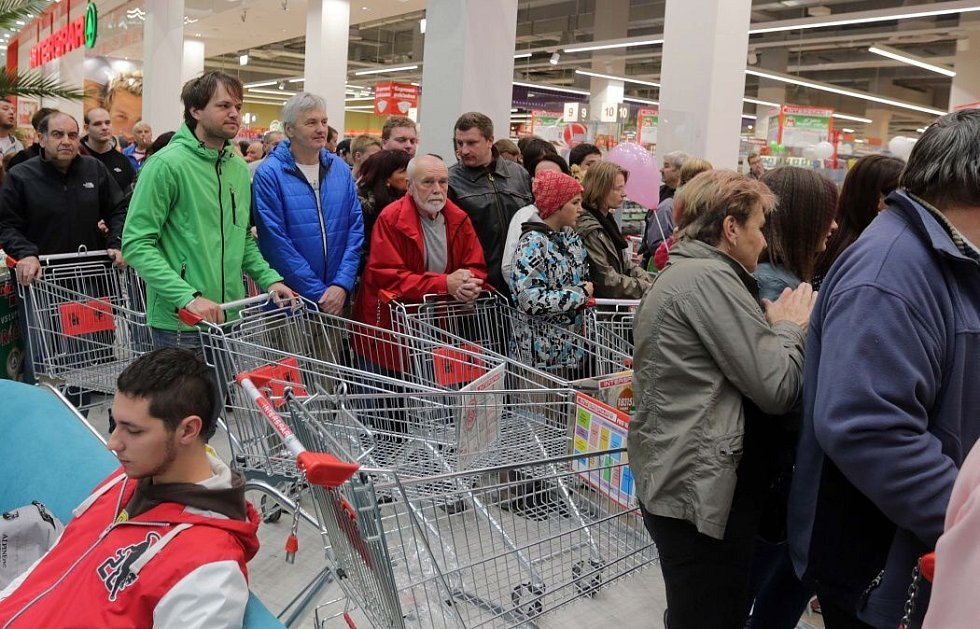 Otevření nové obchodní galerie Šantovka v Olomouci