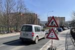Okružní křižovatka ulic Věžní a Uničovské ve Šternberku, uzavírka potrvá do 30. května, 1. dubna 20211. dubna 2021