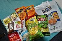 Produkty šumvaldského střediska výroby snacků Bersi a BAG