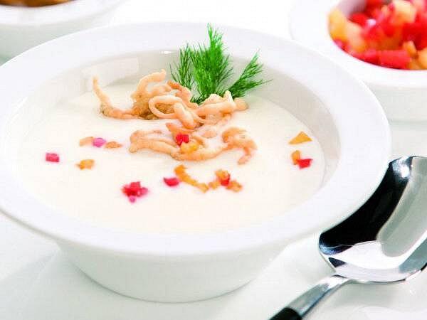 Sýrová polévka skřupinkami