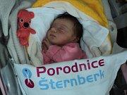 Amálka Kubánková, Kroměříž, narozena 10. prosince, míra 49 cm, váha 3210 g