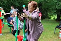 Cvičení v přerovském parku Michalov. Ilustrační foto