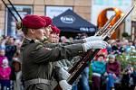 Festival vojenských hudeb na Horním náměstí v Olomouci, pátek 27. srpna 2021