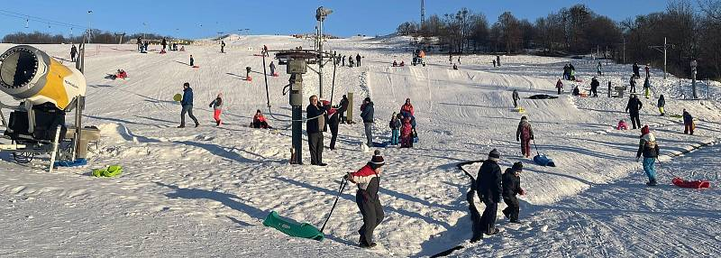 Skiareál Hlubočky, 31. ledna 2021