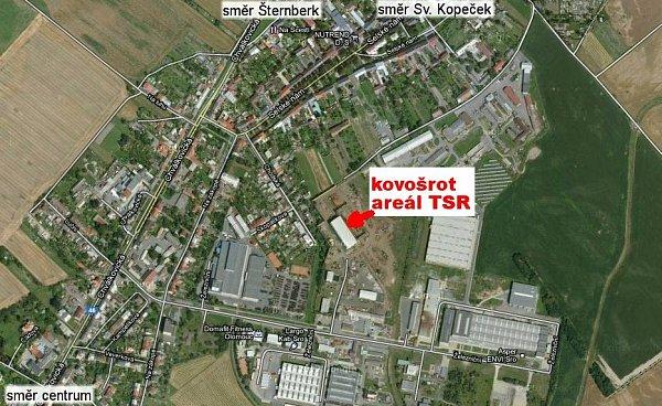 Areál firmy TSR ve Chválkovicích
