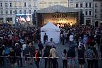 Sobotní Svátky města na Horním náměstí v Olomouci.