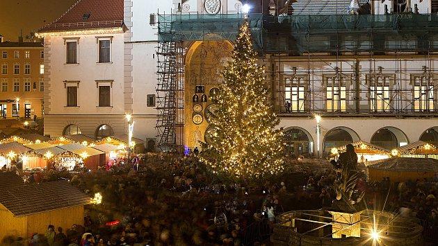 Slavnostní rozsvícení vánočního stromu v Olomouci