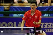 Vítěz Chun Ting Wong. Finále dvouhry mužů. Czech Open v Olomouci