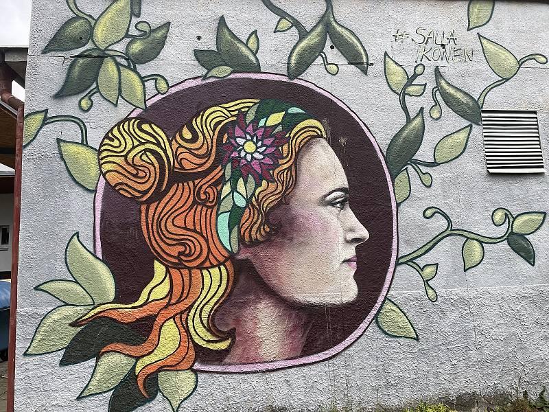 Autorka Salla, VŠ koleje. Street art v Olomouci