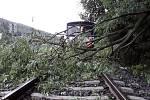 Následky bouřek v noci na středu 30. června v Olomouckém kraji