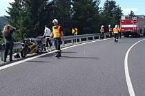 Nehoda motorkářů na Červenohorském sedle. Ilustrační foto