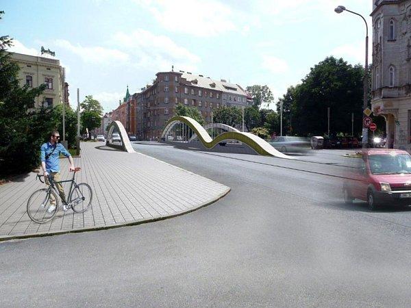 Schválený finální návrh nového mostu na Masarykově třídě vOlomouci