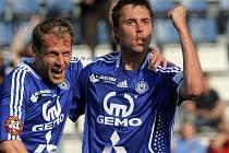 Michal Ordoš se raduje z gólu