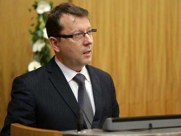 Antonín Staněk na prvním zasedání nového olomouckého zastupitelstva