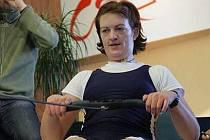 Pavlína Žižková na veslařském trenažéru