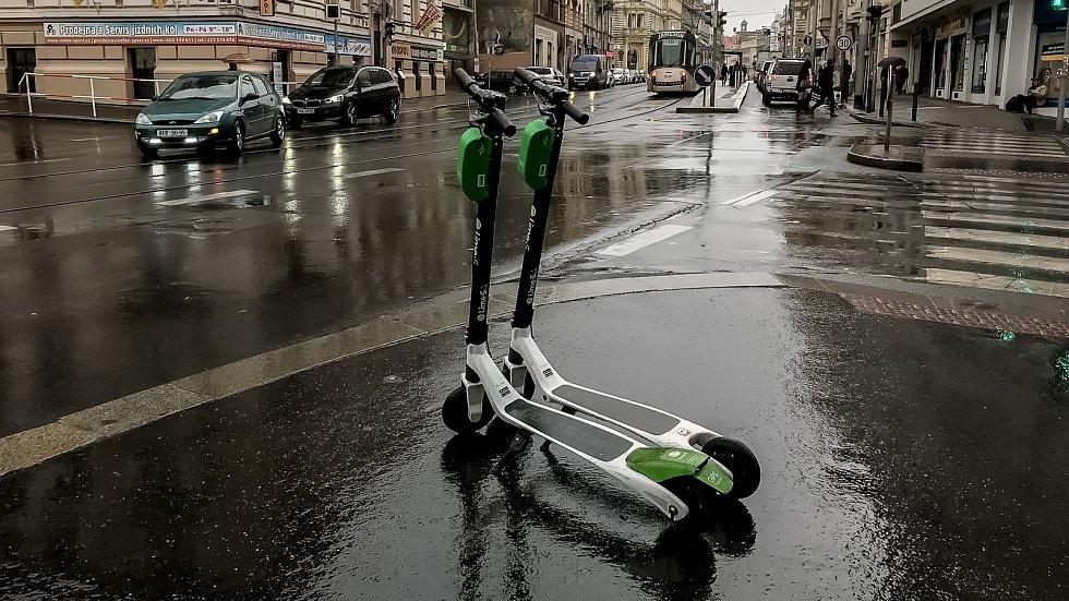Sdílené elektrokoloběžky v Praze