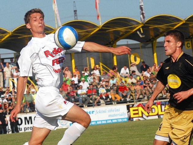 Nejlepším střelcem 1. HFK Olomouc byl v sezoně 2006/2007 Tomáš Kazár (vlevo).