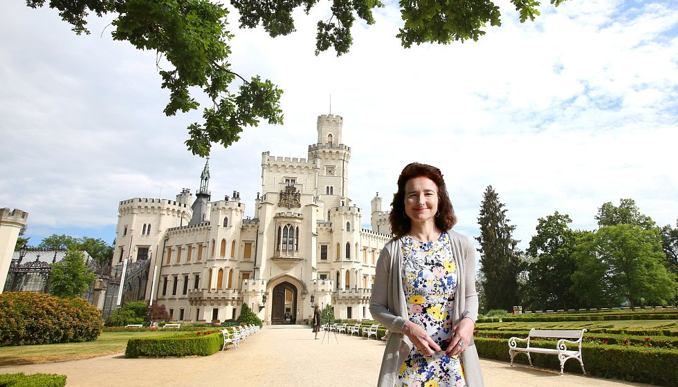 Britská velvyslankyně Jan Thompson na zámku Hluboká.