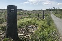 Kozlov, vojenský újezd, pramen Odry, 13.6.2020