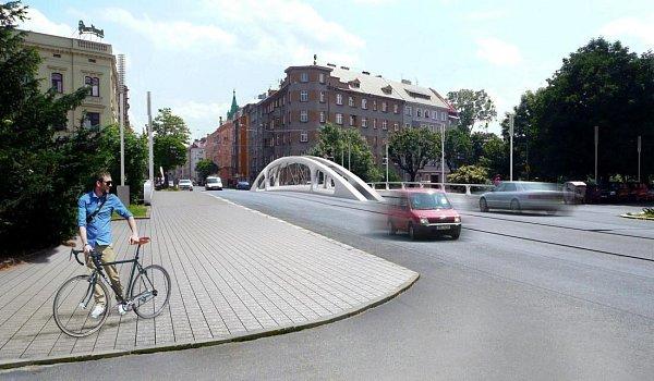 Nová podoba mostu na Masarykově třídě vOlomouci