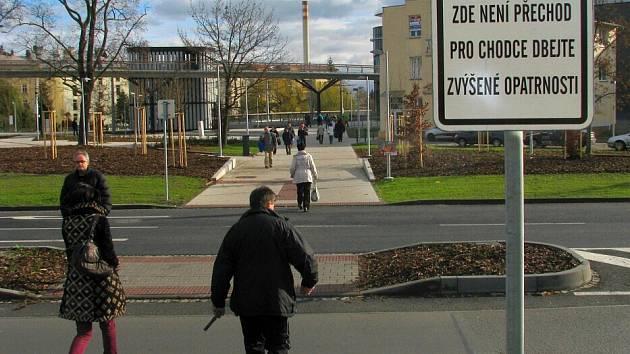 Místo pro přecházení v Polské ulici