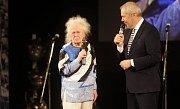 Dana Hlobilová. Předávání Cen Olomouckého kraje za přínos v oblasti kultury 2017 v Městském divadle v Prostějově