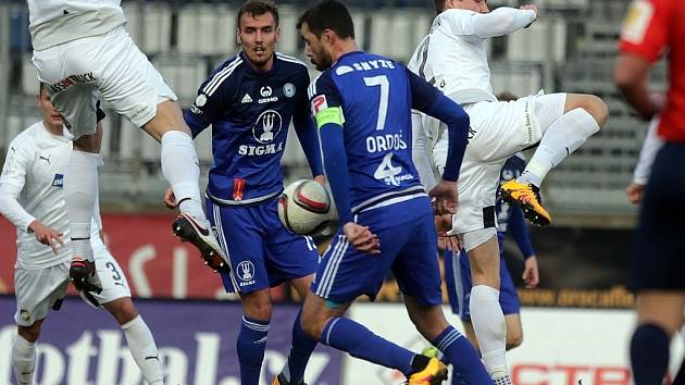 Sigma v poháru proti Plzni. Michal Ordoš před gólovou střelou