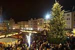Rozsvěcení vánočního stromu v Olomouci