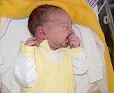 Teodor Metelka, Albrechtice, narozen 9. července, míra 50 cm, váha 3450 g
