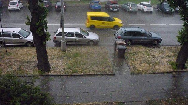 Bouřka a krupobití na Olomoucku 1.7.2019
