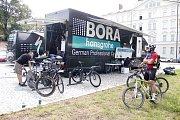 Německá World Tour stáj Bora Hansgrohe si vytvořila zázemí pro závod Czech Cycling Tour v centru Olomouce