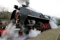 Parní lokomotiva Šlechtična. Ilustrační foto