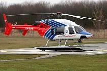 Vrtulník Bell 427, se kterým do konce roku 2016 provozovala v Olomouckém kraji leteckou záchranku firma Alfa Helicopter