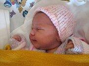 Hana Dušková, Blatec, narozena 13. dubna v Olomouci, míra 50 cm, váha 3480 g