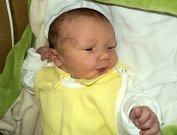 David Beran, Bílsko, narozen 18. července ve Šternberku, míra 50 cm, váha 2410 g