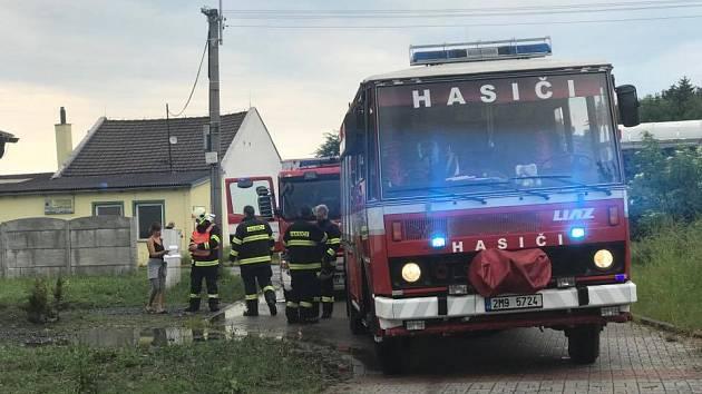 Zásahy hasičů při bouřkách - 4. června 2017