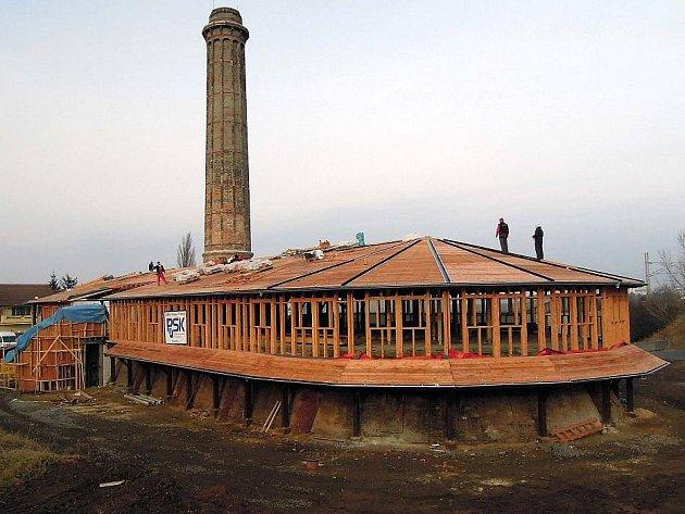 Proměna zchátralé cihelny ve Slavoníně - začátek ledna 2012