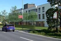 Vizualizace Domova seniorů v olomoucké místní části Slavonín