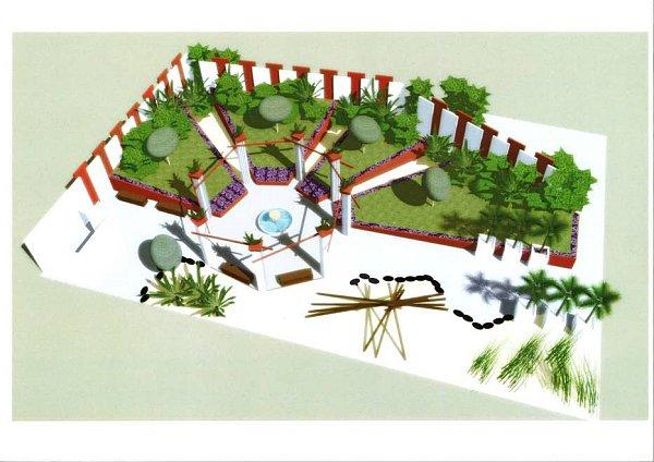 Vizualizace Zahrady Getsemanská vpavilonu H