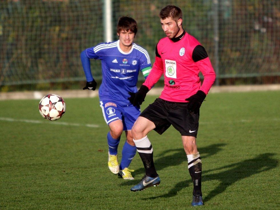 Juniorka Sigmy proti Mladé Boleslavi - Jaroslav Svozil, Pavel Šultes (vpravo)