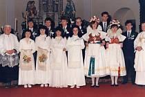 Společná fotka v roce 1990.