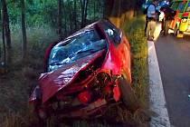 Tragická nehoda renaultu v olomoucké části Holice