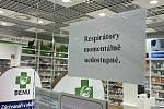 Respirátory jsou vyprodány, informovaly v neděli lékárny v Olomouci, 21. února 2021