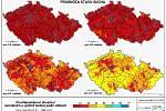 Prognóza vývoje sucha na dva měsíce.