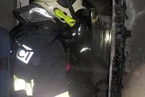 Tragický požár rodinného domu v Hněvotíně